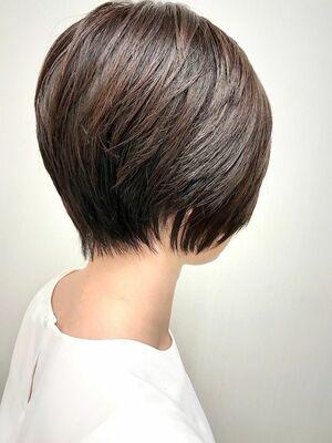 立体ショート+ニュアンスハイライト+髪質改善オージュアトリートメント