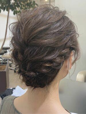 結婚式や2次会パーティー成人式和装着物浴衣ヘアセットヘアアレンジアップスタイルまとめ髪
