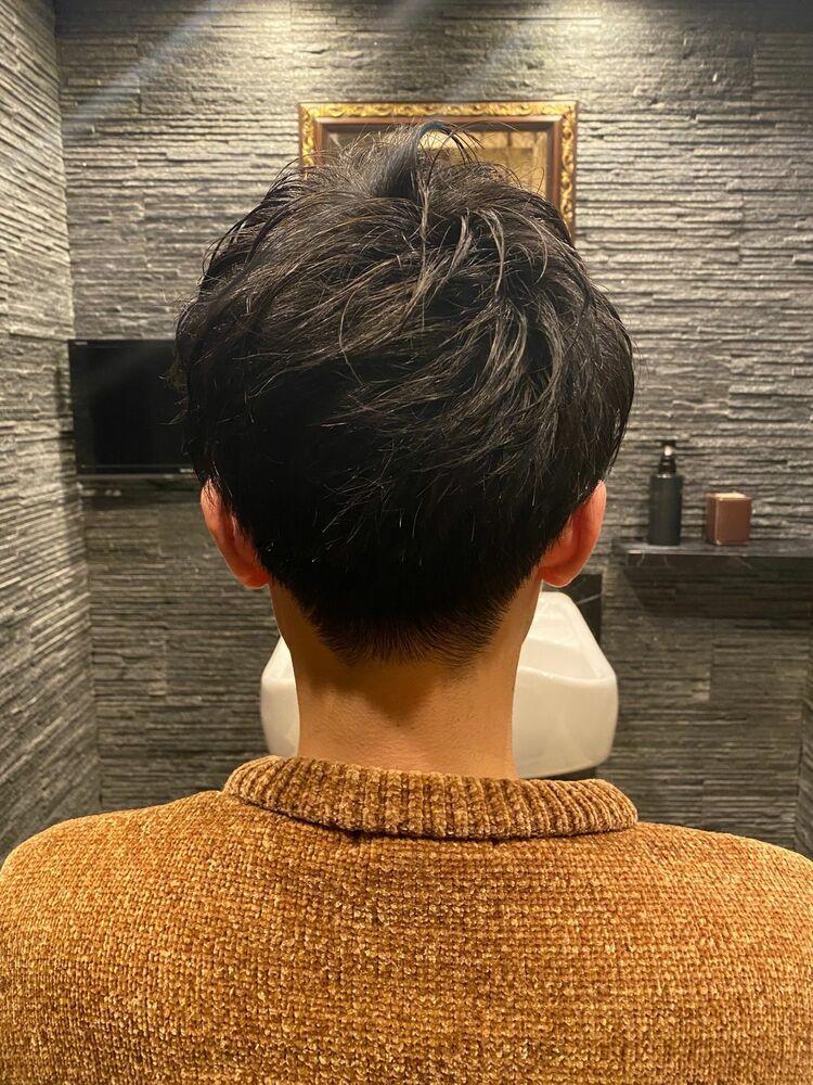 ツーブロック/ショート/前髪重め/刈り上げ/秋髪/ヒロ銀座/プレミアムバーバー/新宿