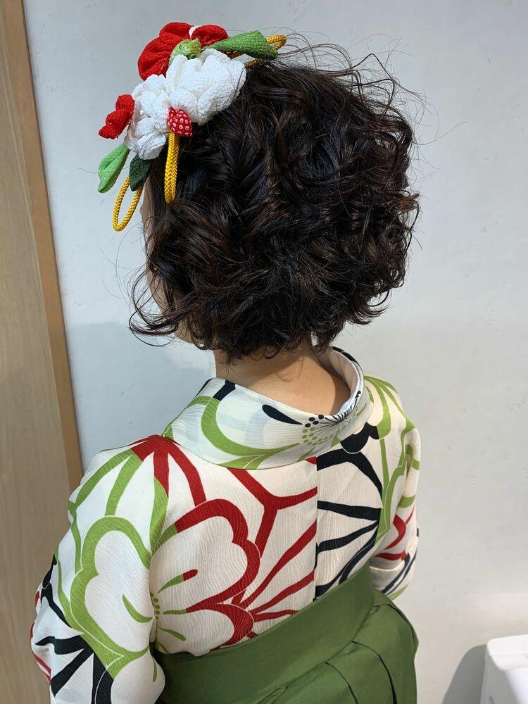 Lia伊藤夏海 卒業式ショートヘアアレンジ