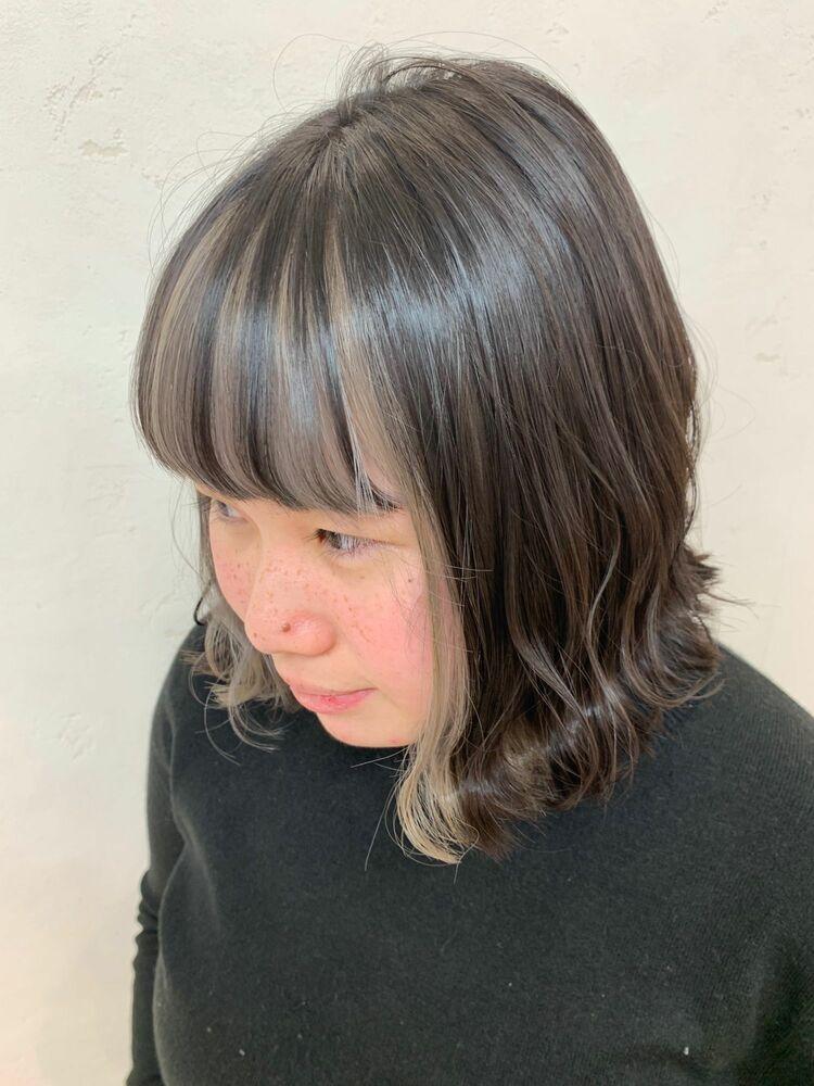 Lia&伊藤夏海 前髪インナーカラー