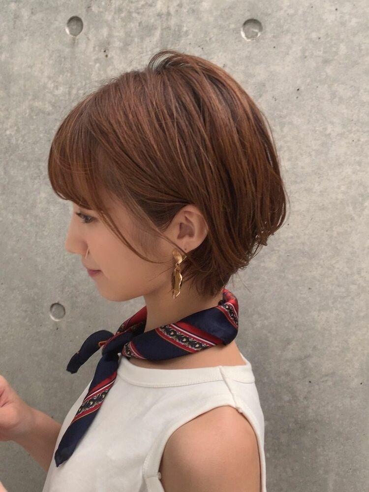 小顔ショートボブヘア☆頭の形がキレイに見えオシャレかつ素敵な女性に