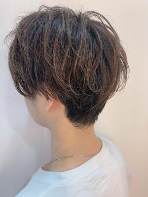 絶壁解消☆ふんわりハンサムショートヘア自然な動きで立体感UP