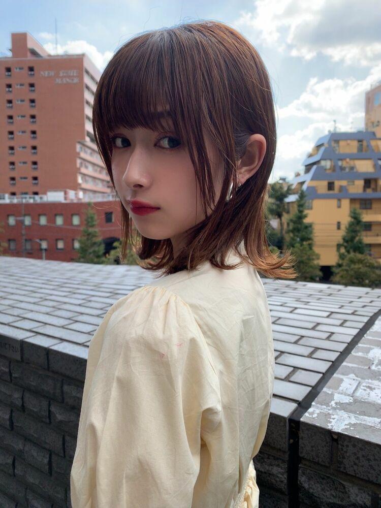 春人気シースルー外ハネボブ&小顔前髪ヘア☆