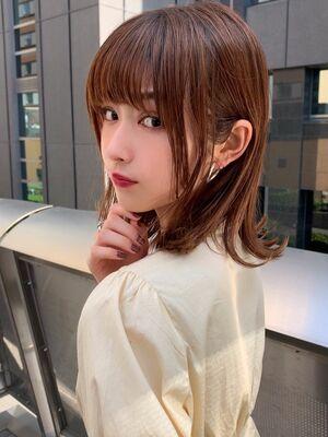 Euphoria新宿通り☆大人可愛い小顔☆外ハネボブ2020年春オススメラテベージュカラー