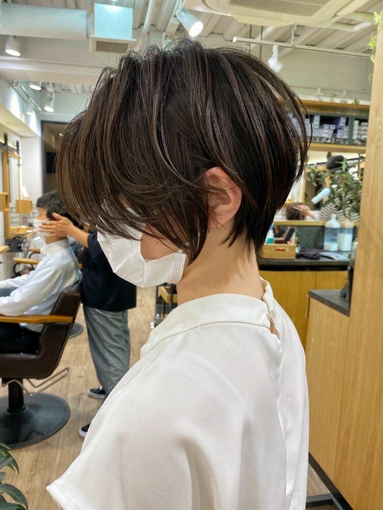 【mag】絶壁解消!大人ひし形ショートボブ/30代/40代【中村】