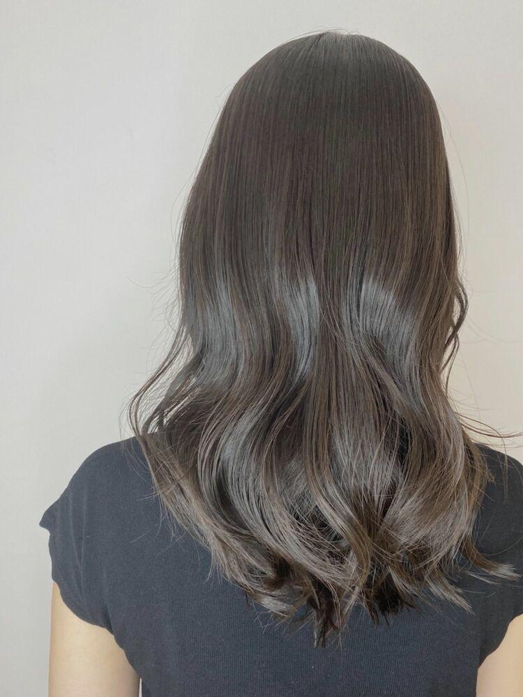 シアグレージュ/髪質改善シアカラー/くびれミディ/秋冬スタイル