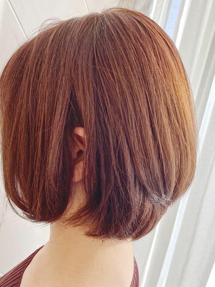 髪質改善パールラベージュミニレイヤーボブ☆ Zina CENTRAL 銀座 出口 耕太郎