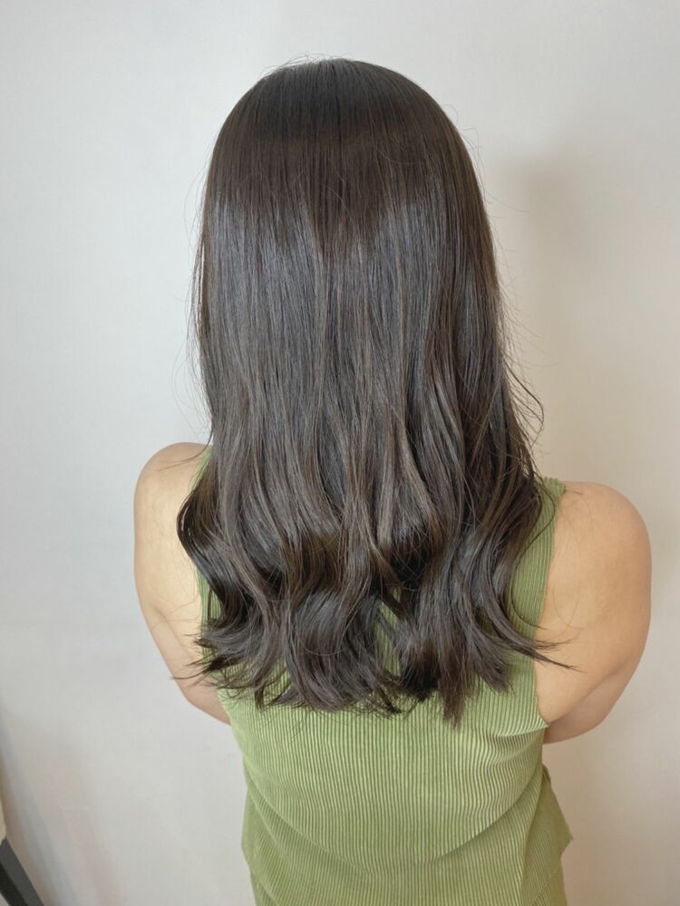 カーキグレージュ 髪質改善 オーダーメイド 銀座美容室 イルミナカラー