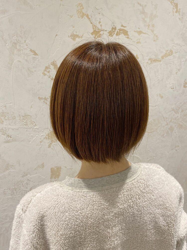 チェリーピンクシアベージュミニボブ☆Zina CENTRAL 銀座 出口 耕太郎