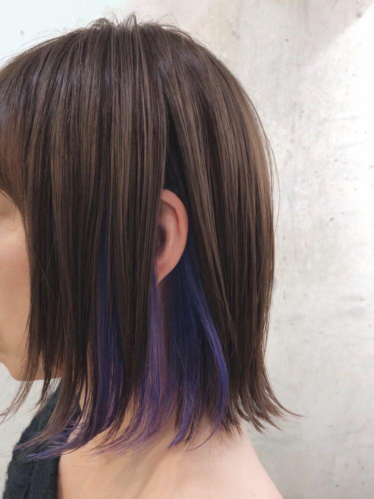 VioletBlueなイヤリングカラー