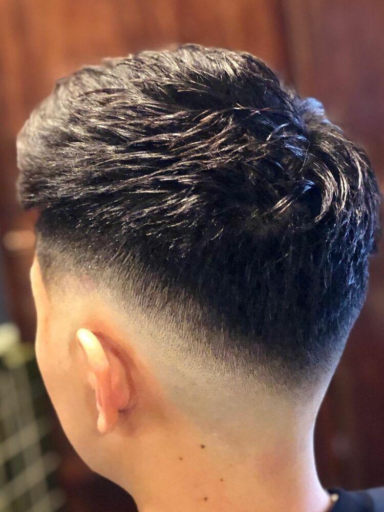 Skin fade jet hair style