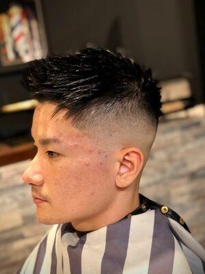 Flat top skin fade style