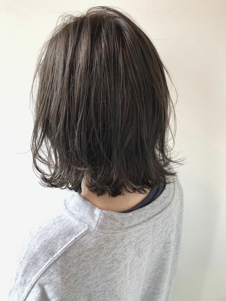 透け感グレージュx切りっぱなしボブ横浜 関内駅 Mira JUN