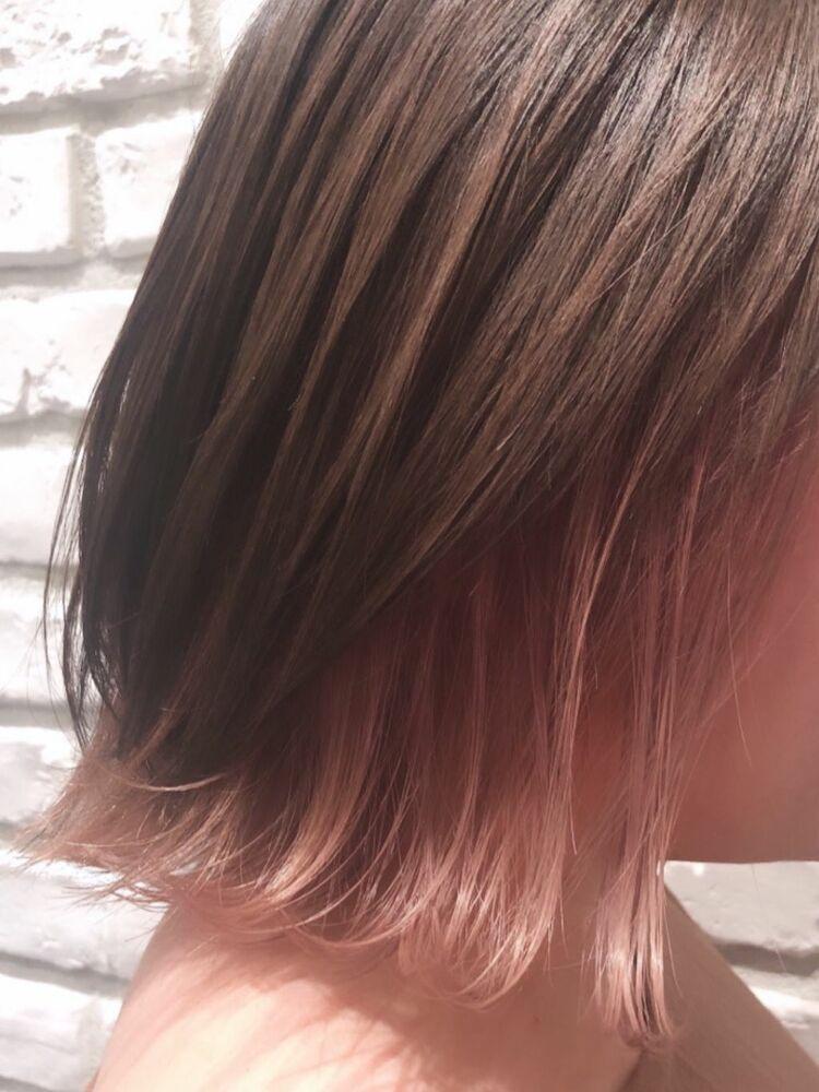 桜ピンク インナーカラー