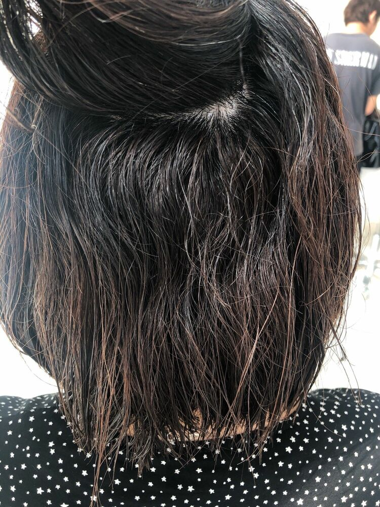 表参道 大野道寛 ☆ ふんわりボブ × 内巻き縮毛矯正(くせ毛でうねる、広がる方)