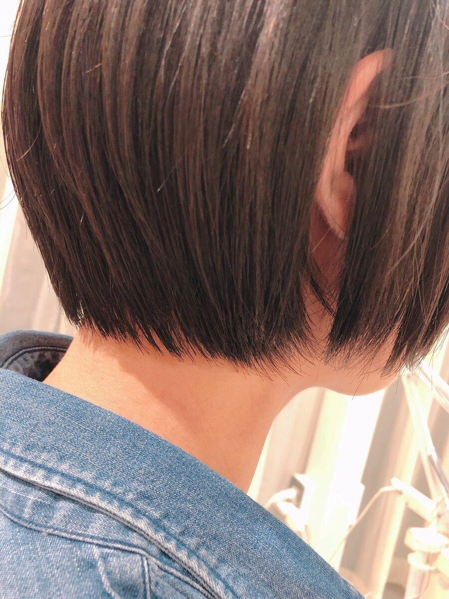 表参道 大野道寛 ☆ ひし形ショート × 内巻き縮毛矯正(くせ毛で広がる方)