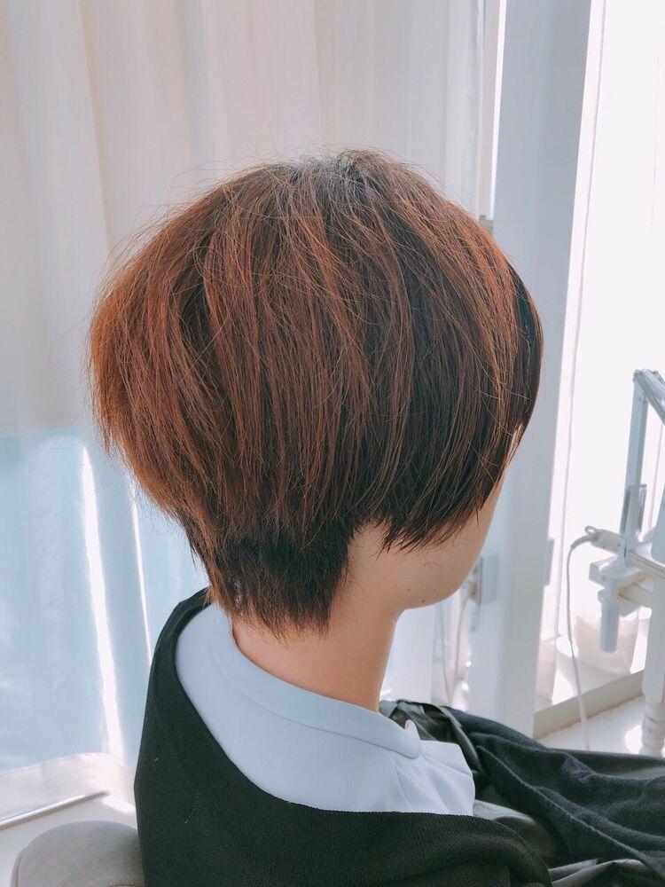 表参道 Lily 大野道寛 ☆ ショート × 内巻き縮毛矯正(くせ毛でうねり、広がる方)