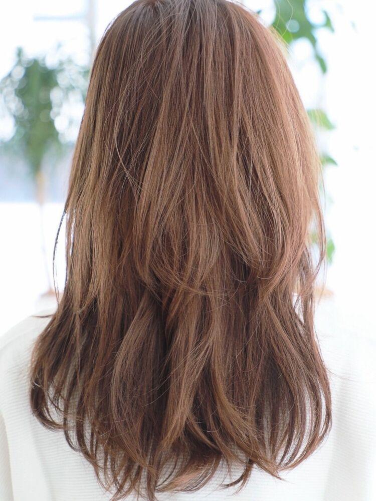 モテ髪◎小顔レイヤー・美髪シースルーバング・ネイビーカラー♪