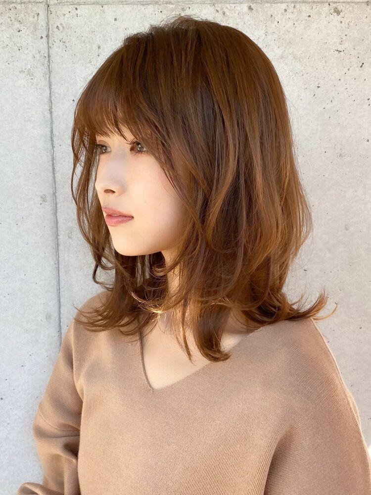 イメチェン☆耳かけ小顔ひし形ショート◎フォギーベージュ