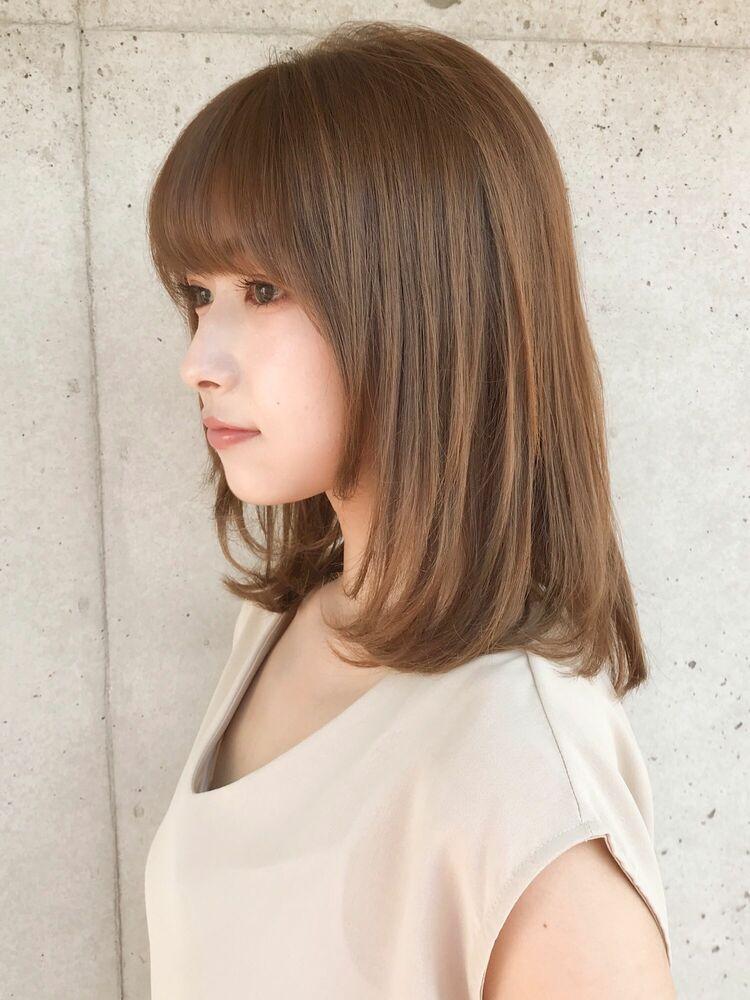 美髪ケア☆大人可愛い小顔フレンチボブネイビーカラー