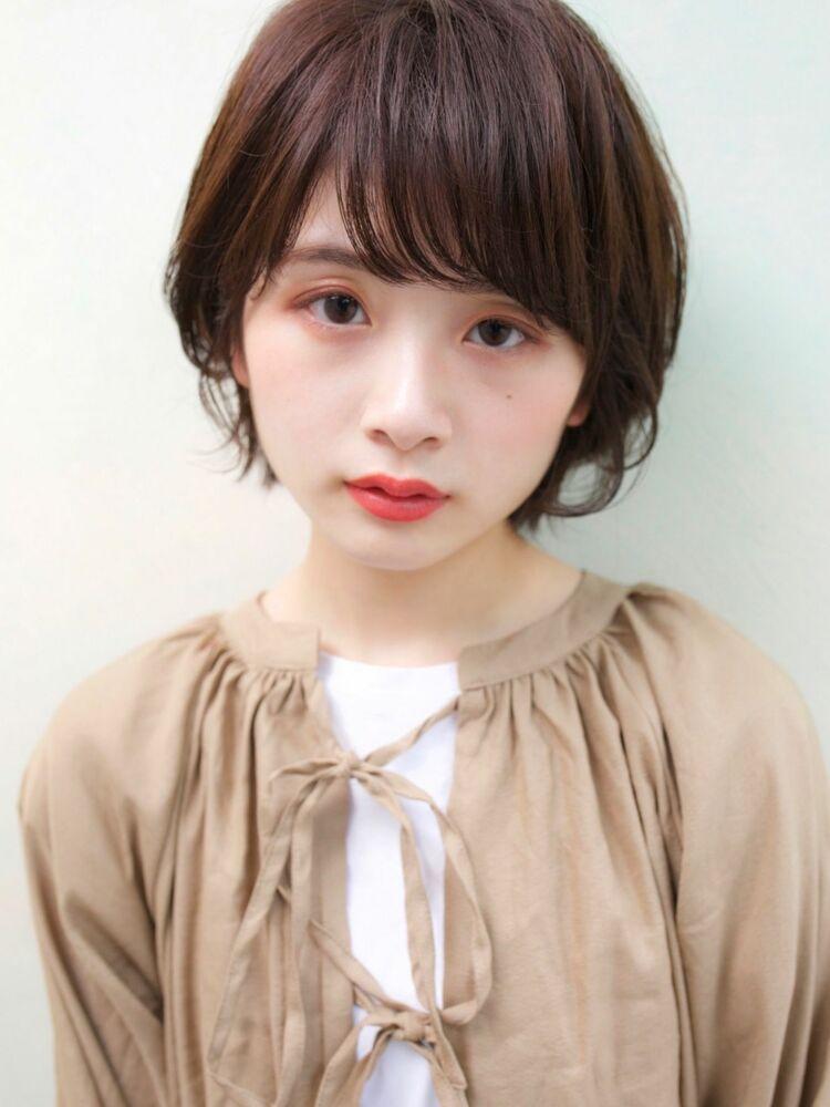 DECO・穂積聡 大人かわいい小顔ひし形ショートボブ