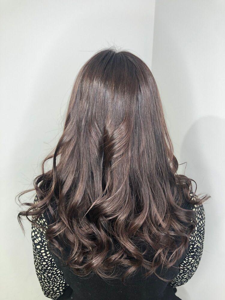 艶髪ロング バイオレットピンクアッシュ