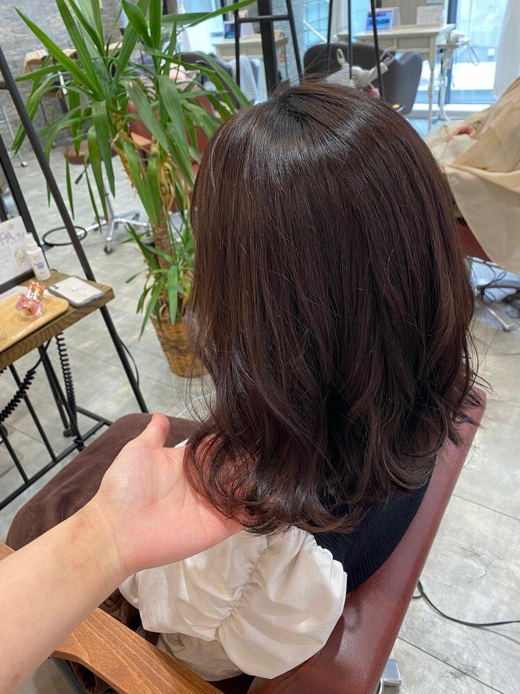 初カラーにオススメ♡ピンクブラウン