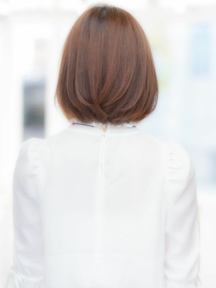 ツヤ感×ワンレングラでツヤ髪ふんわり大人スタイル