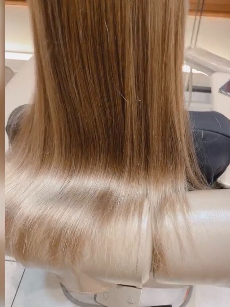 ギシギシの髪を髪質改善で大変身!