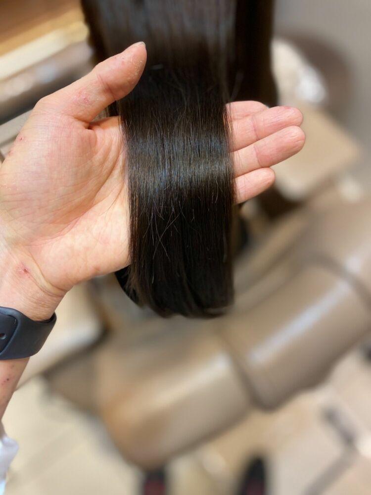 ダメージレスカットで黒髪ロングのツヤ髪を!