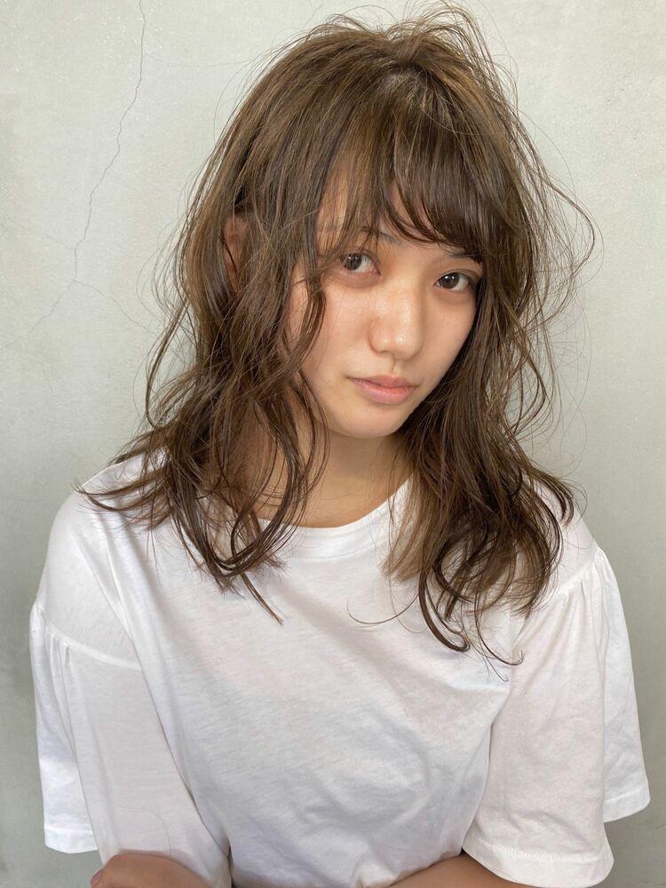 """secret highlight""""ash biege"""" × rough curl"""