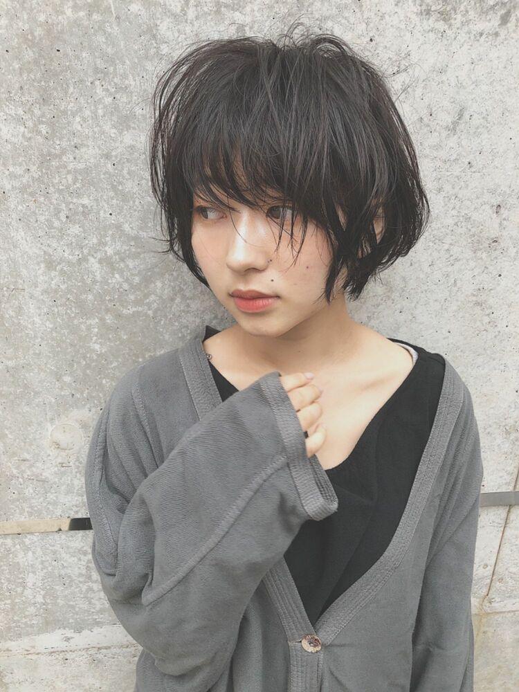 #黒髪シースルーボブ #透明感黒髪