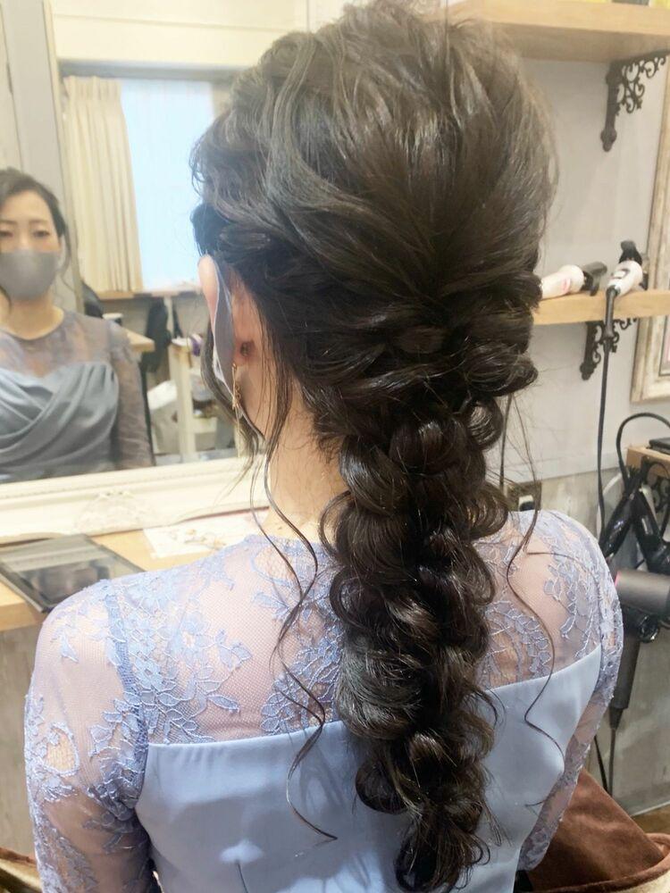 ヘアセット/編み下ろし結婚式ヘアセット
