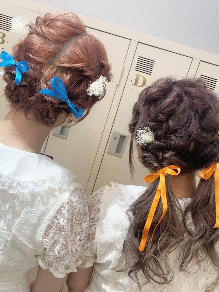 双子アレンジ*ライブヘアセットアレンジ♪