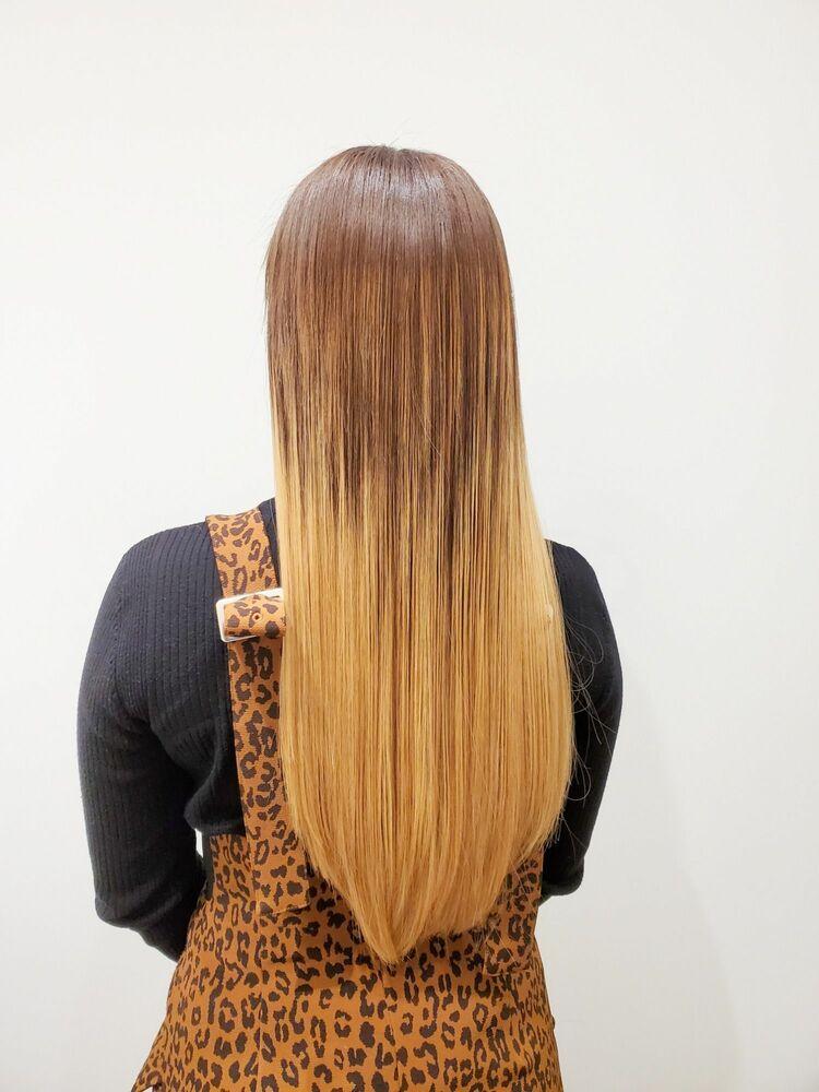 超音波グラデーションエクステで髪を傷めずグラデーションロング