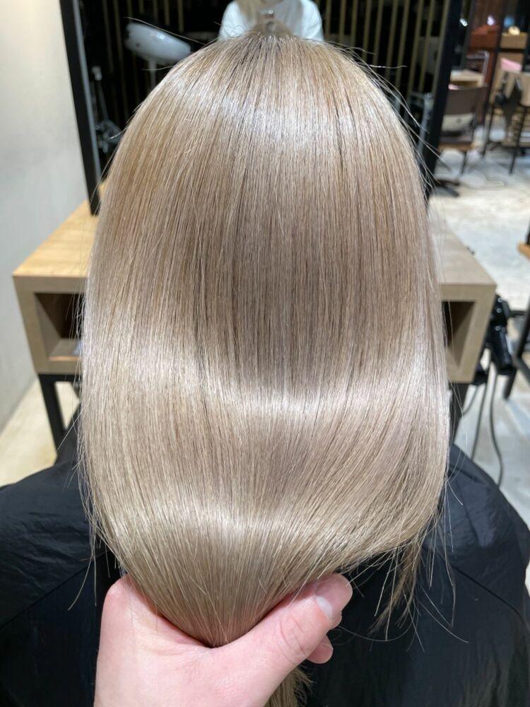 ミルクティーカラー髪質改善