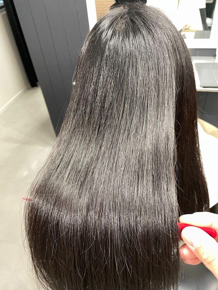 髪質改善・美髪カラー+幹細胞美容液トリートメントスパ