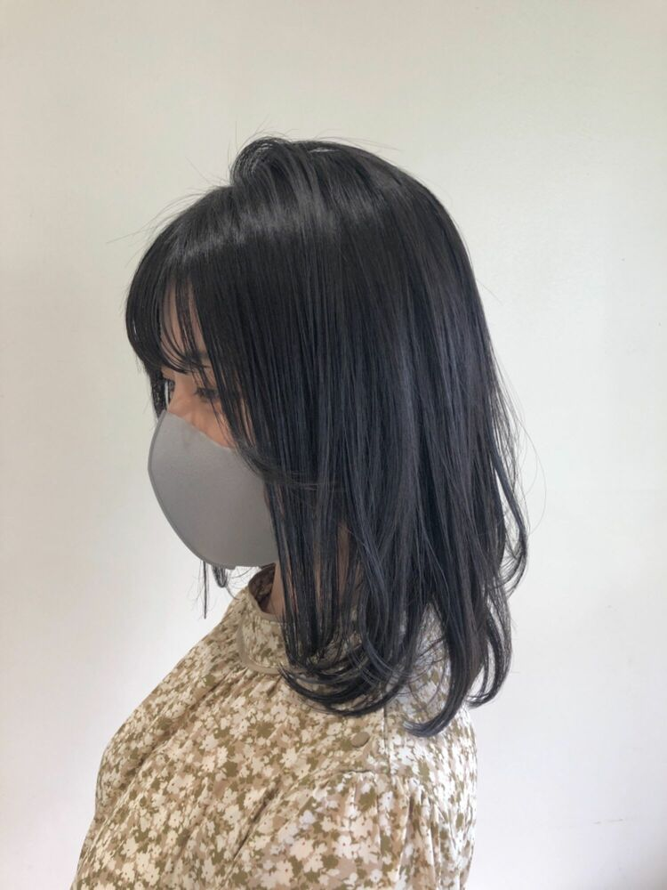 ☆ウルフボブ×黒髪エアリーミディ☆