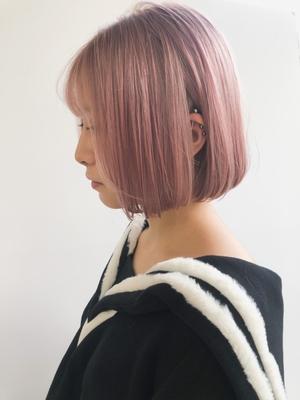 white pink mini bob🎀