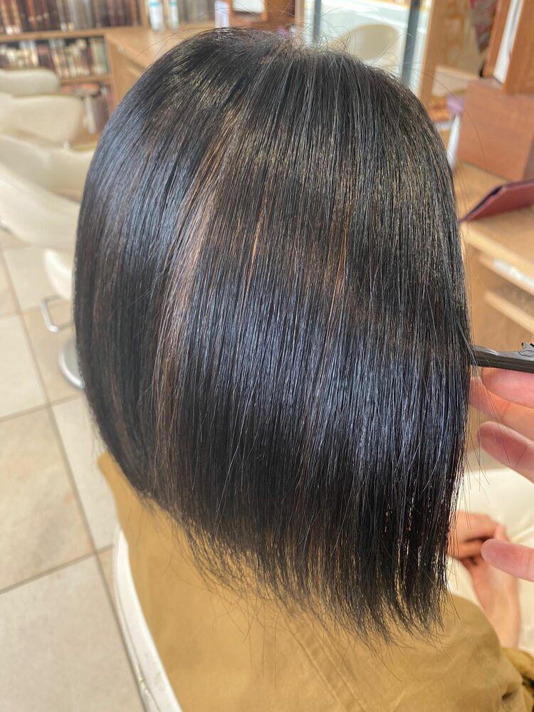 【毎日続く髪質改善】プレミアムストレート 2枚目はbefore