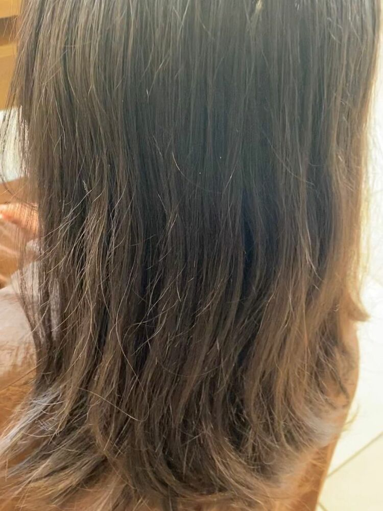 【毎日続く髪質改善】プレミアムストレート 2 枚目はbefore