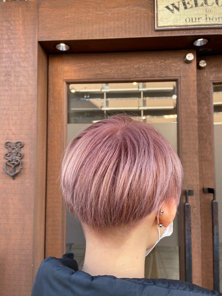 抜けても綺麗なピンクヘア♡