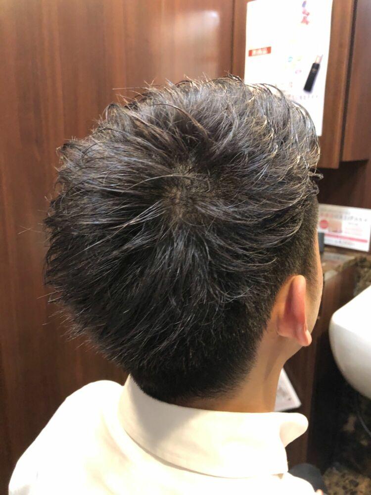 ツーブロショート/銀座/理容室/メンズ/