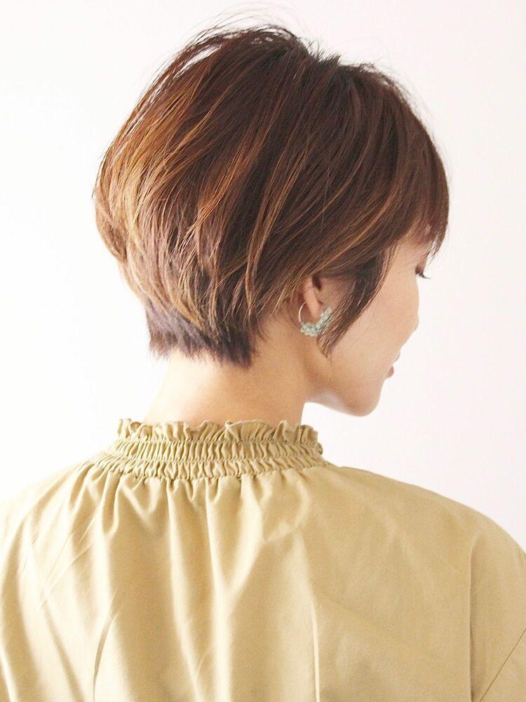丸みのあるショートヘア◎