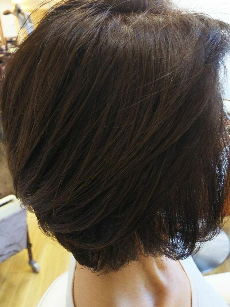 ひし形シルエットで短くても女らしくチョイ明るく楽しめるカラーです(^-^)v