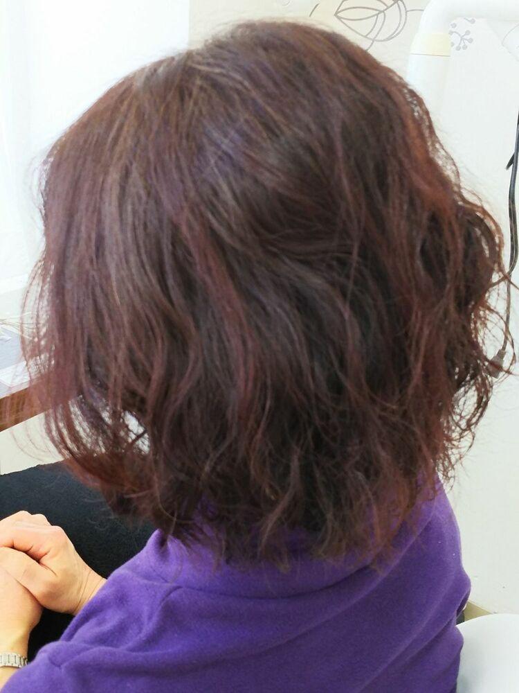 肩までの長さにしたことでランダムヘアーが自由自在に作れます。