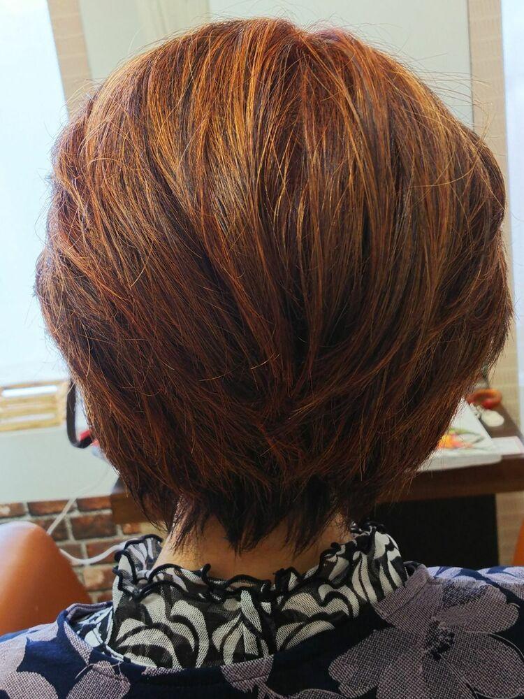 前髪を流す事で気品溢れるスタイルです。