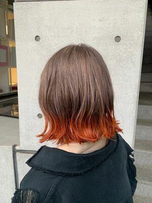 裾カラーオレンジ