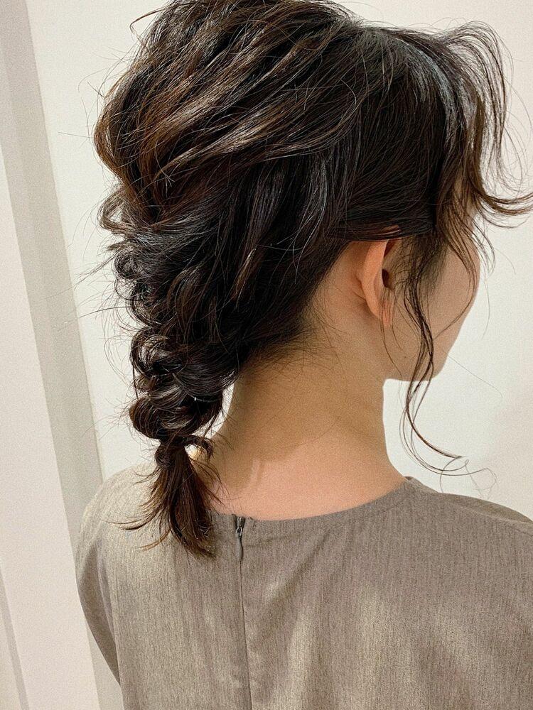 伸びかけ前髪🌿おくれ毛アレンジ🎀Instagram @kana.ozawa